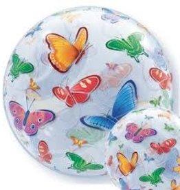 "Qualatex 22"" Bubble - Butterflies"