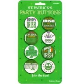 St Patrick's party buttons