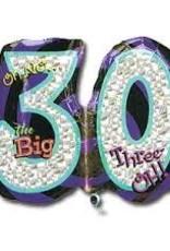 """26"""" OH NO! BIRTHDAY 30 FOIL"""