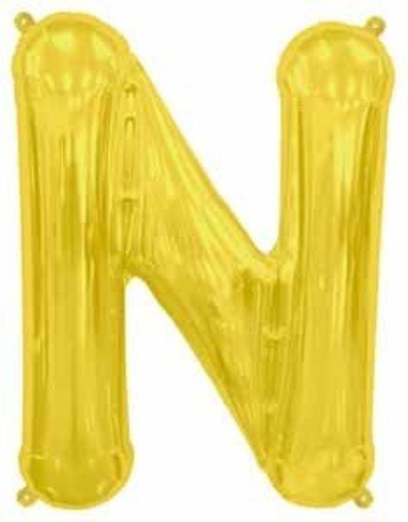 """34"""" Letter N - Gold"""