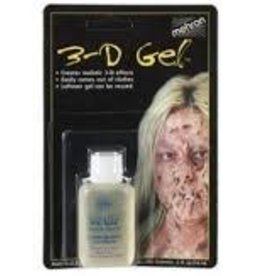 MEHRON 3-D GEL SQUEEZE BOTTLE CLEAR