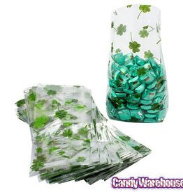 St Patrick's day gift bag clear 25 pc