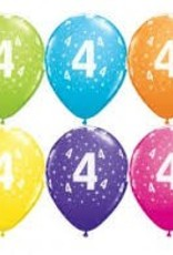 "Qualatex 11"" # 4 STARS ASSORTED JEWEL TONE 100CT"