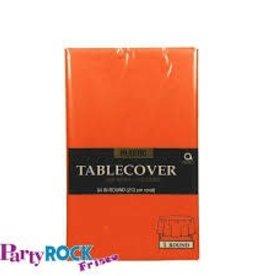 """PLASTIC TABLE COVER 84"""" ROUND ORANGE"""