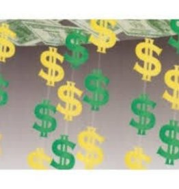 MONEY SIGN CEILING DECORATION 12 FEET