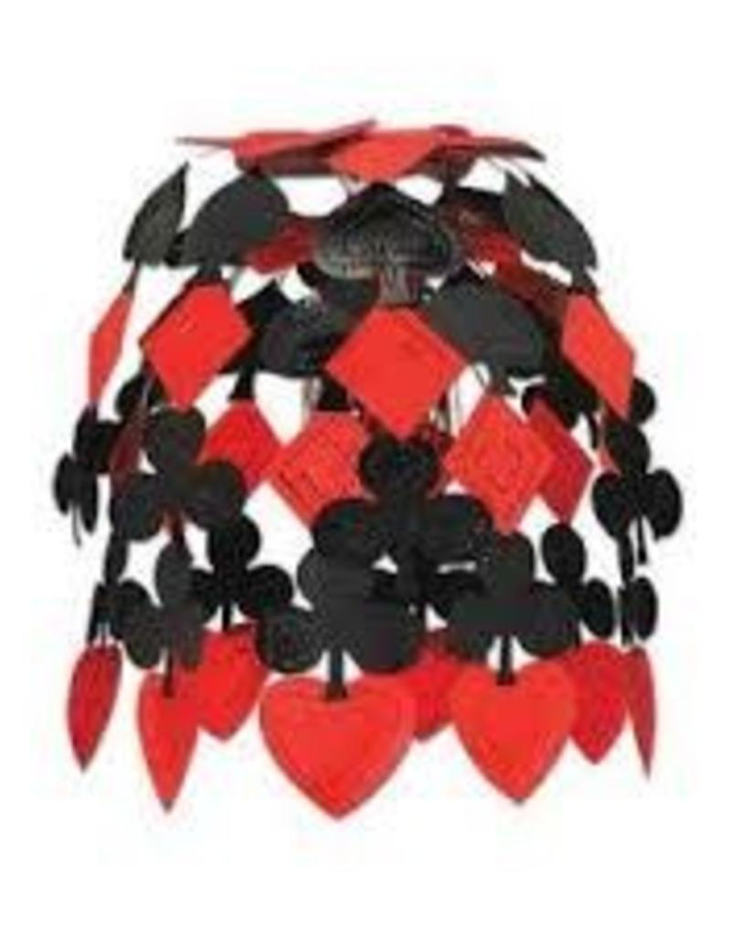 "CASINO CASCADE 24"" HANGING DECORATION BLACK & RED"