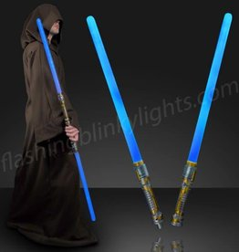 DOUBLE SIDED SWORDS SABERS W/ BLUE LED N SOUNDS
