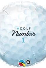 "Qualatex 18"" GOLF BALL - NUMBER 1"
