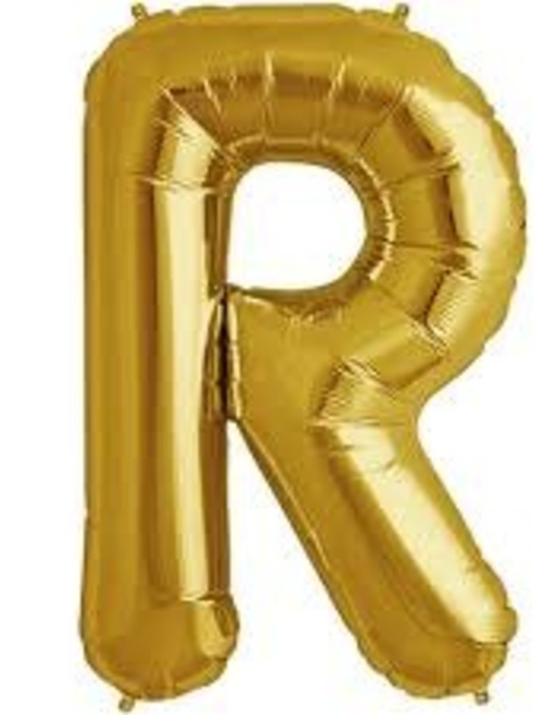 """34"""" Letter R - Gold"""