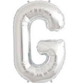 """34"""" Letter G - Silver"""
