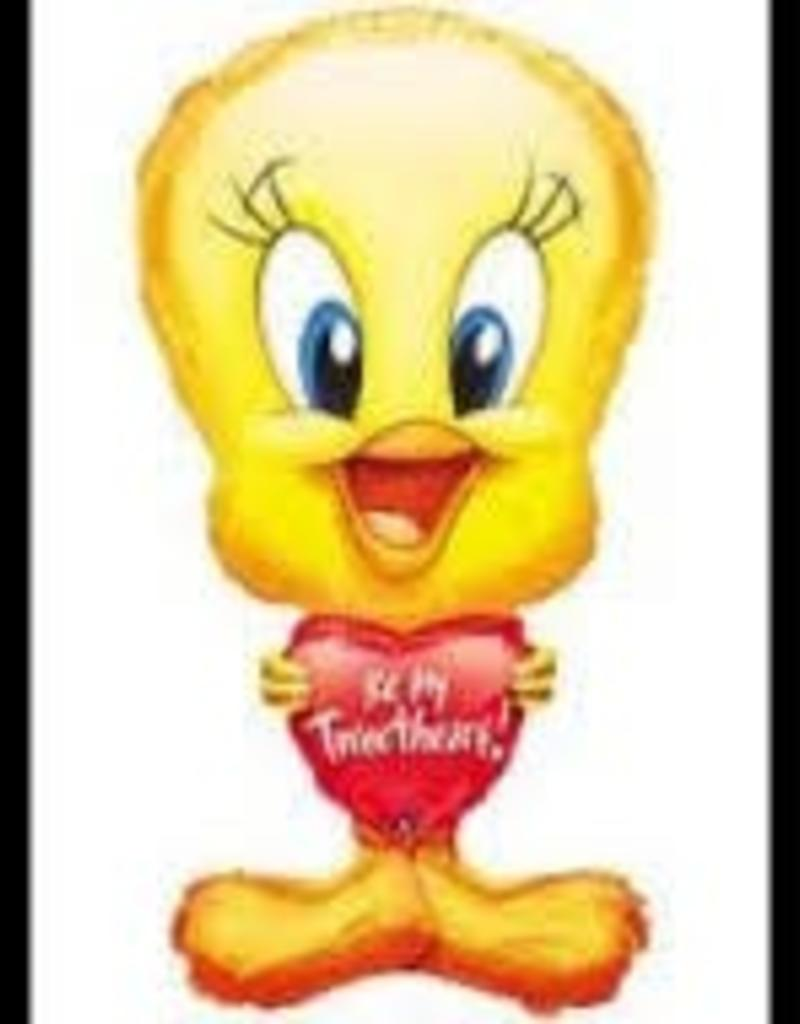 "31"" Tweety Bird Valentine Heart SuperShape Foil Balloon"