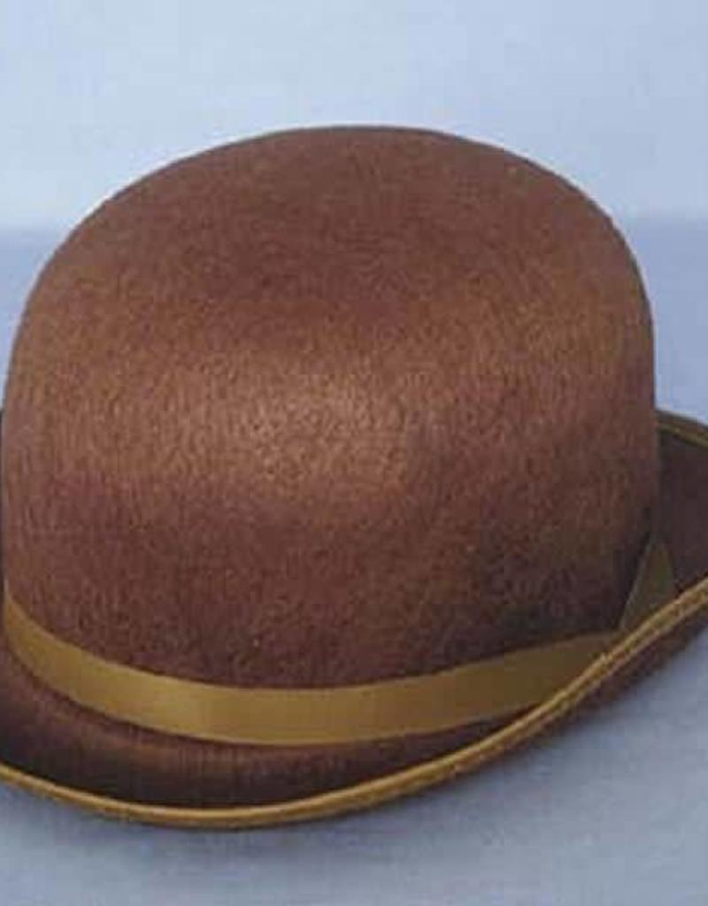 BROWN FELT DERBY/BOLER HAT