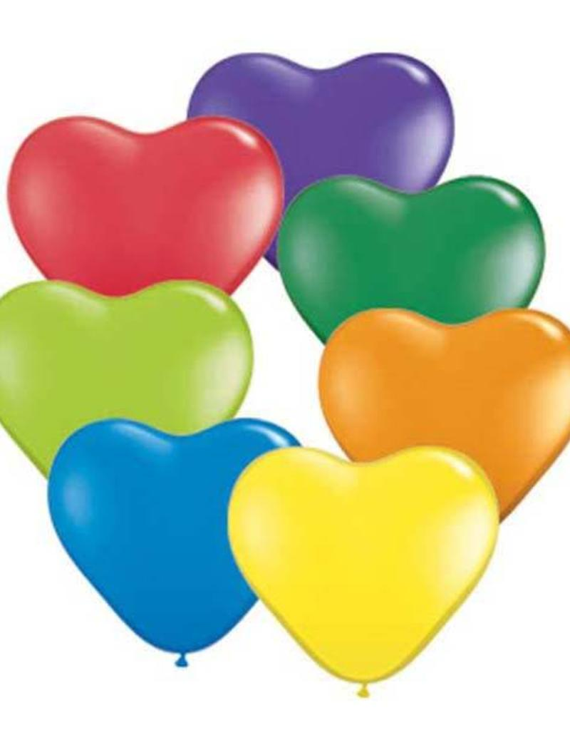 "Qualatex 05"" CARNIVAL HEART ASSORTMENT"