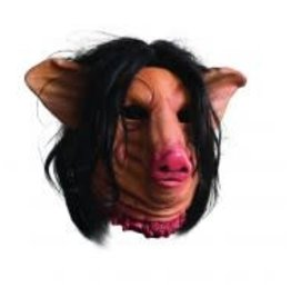 SAW PIG FACE OVERHEAD LATEX MASK