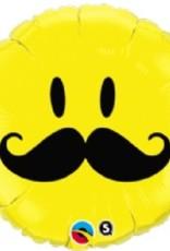 Qualatex 18' SMILE FACE MUSTACHE