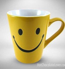 SMILEY FACE MUG -SOLID YELLOW-