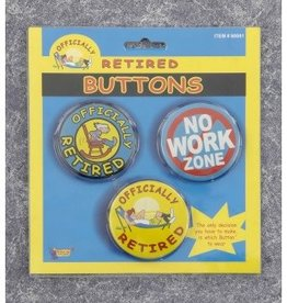 OFFICIALLY RETIRED BUTTONS 3PK