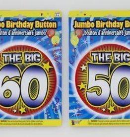 JUMBO 60TH BIRTHDAY BUTTON
