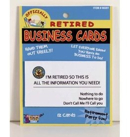 RETIRED BUSINESS CARDS 12PK
