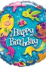 "Qualatex 18"" BIRTHDAY MERMAID"