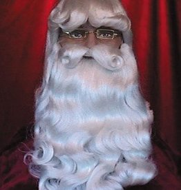 DELUXE ELEGANT SANTA WIG AND BEARD