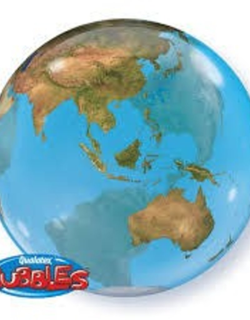 "Qualatex 22"" Bubble - Earth"