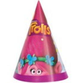 TROLLS PARTY HATS (8PKG)