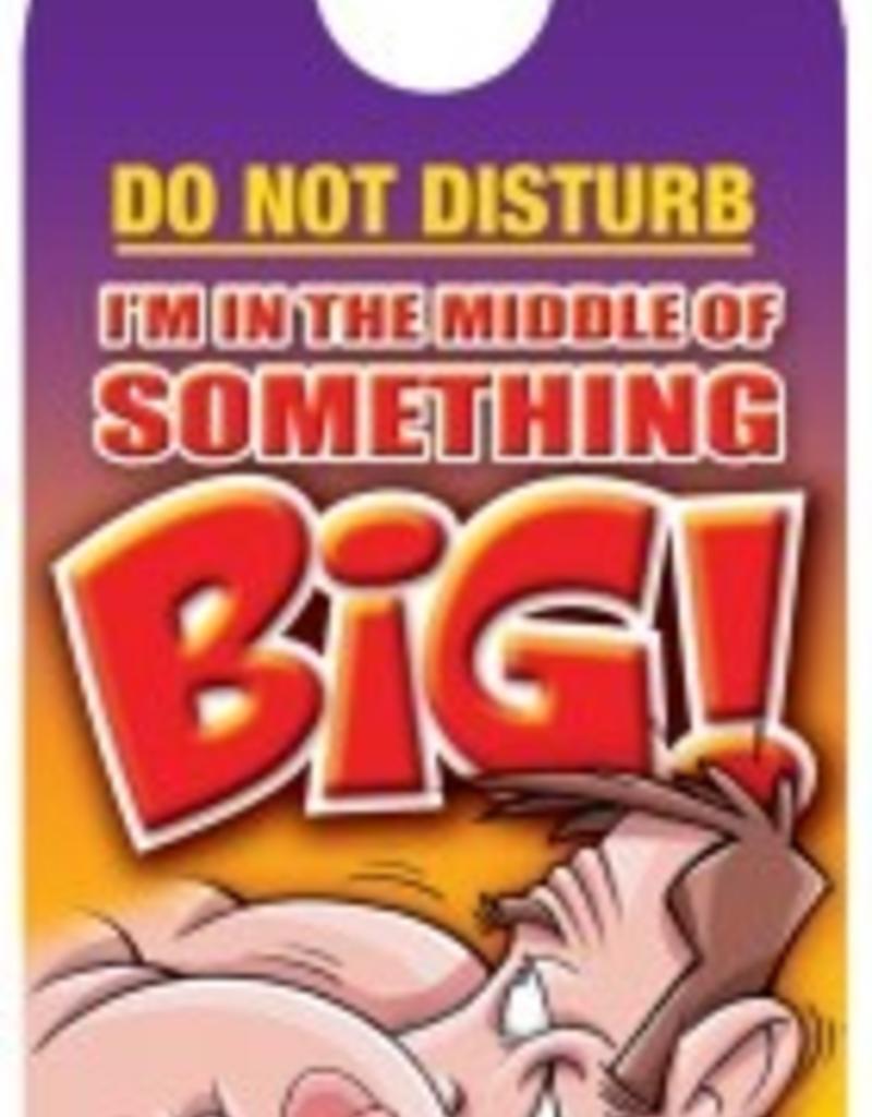 DO NOT DISTURB IN THE MIDDLE DOOR HANGER
