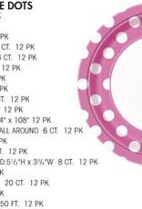 12OZ CUP LOVELY PINK DOTS (6 PER PKG)