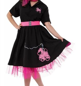 BLACK 50'S POODLE SKIRT