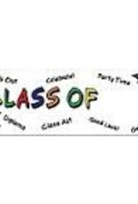 """CLASS OF """"YEAR"""" BANNER 5' X 21"""""""