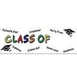 "CLASS OF ""YEAR"" BANNER 5' X 21"""