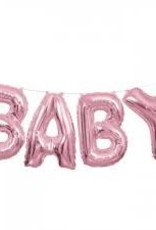"14"" PINK BABY BANNER BALLOON KIT"