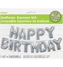 """14"""" HAPPY BIRTHDAY BANNER BALLOON KIT"""