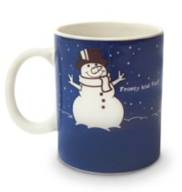 Colour Changing Before and After Meltin' Snowman Mug