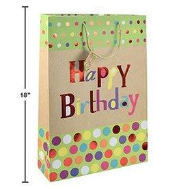 Paper T. Bday Dots Gift Bag Jumbo