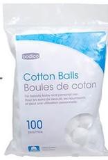 Bodico 100-pc Cotton Balls, 100% COTTON, resealable bag