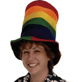 Rainbow Plush Top Hat