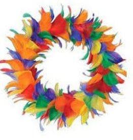 Rainbow Feather Wreath