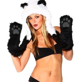 IHEARTRAVES Furry Hood (panda)