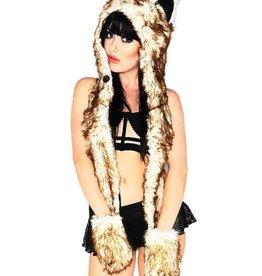 IHEARTRAVES Furry Hood (husky-brown)