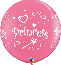 Princess 3 foot latex flat (2ct)