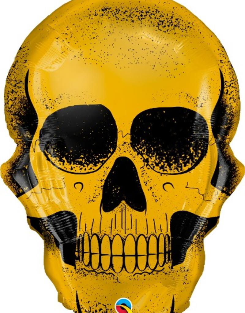 "Qualatex 36"" GOLD SKULL"