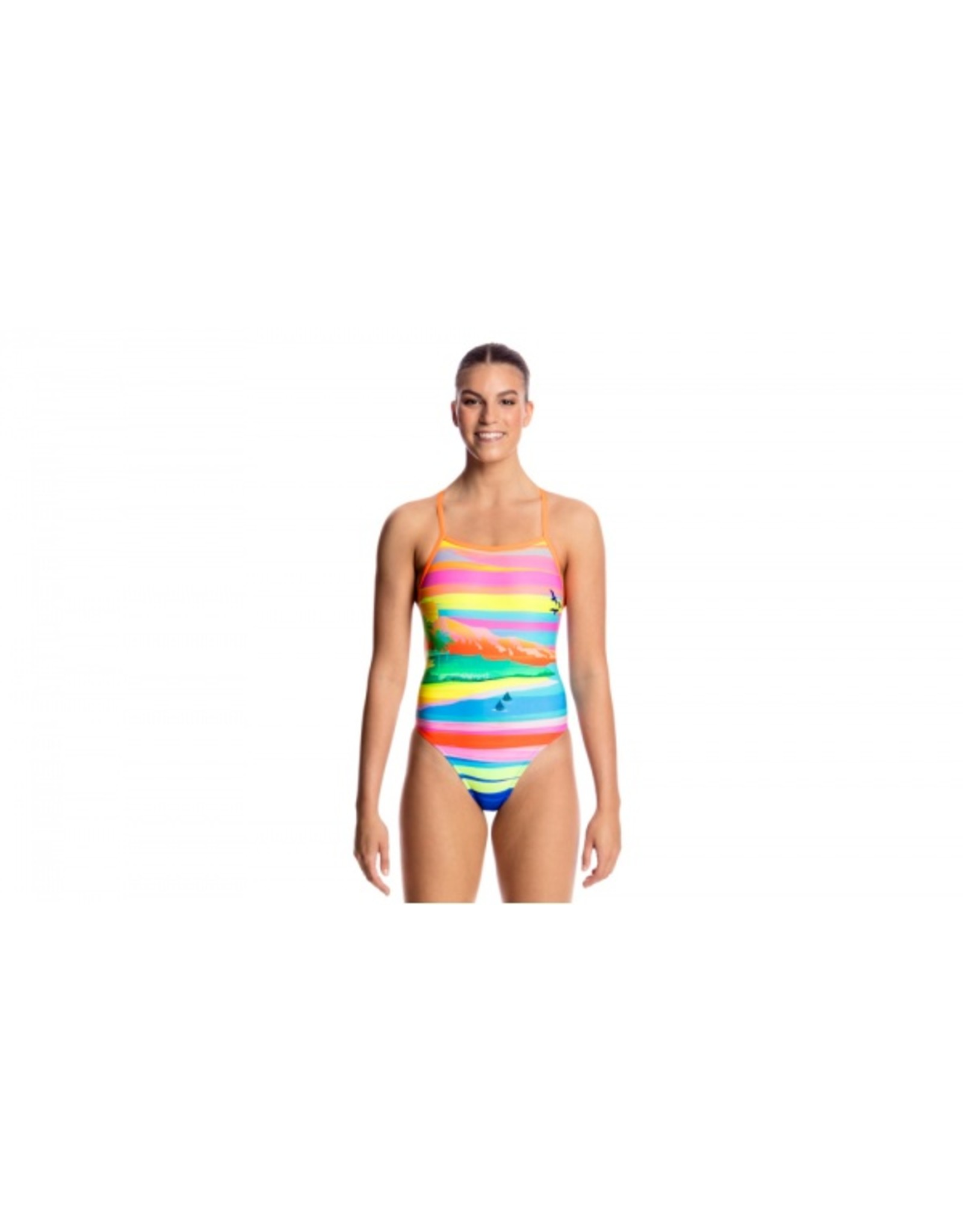 Funkita Funkita Ladies Tie Me Tight One Piece Pina Colada