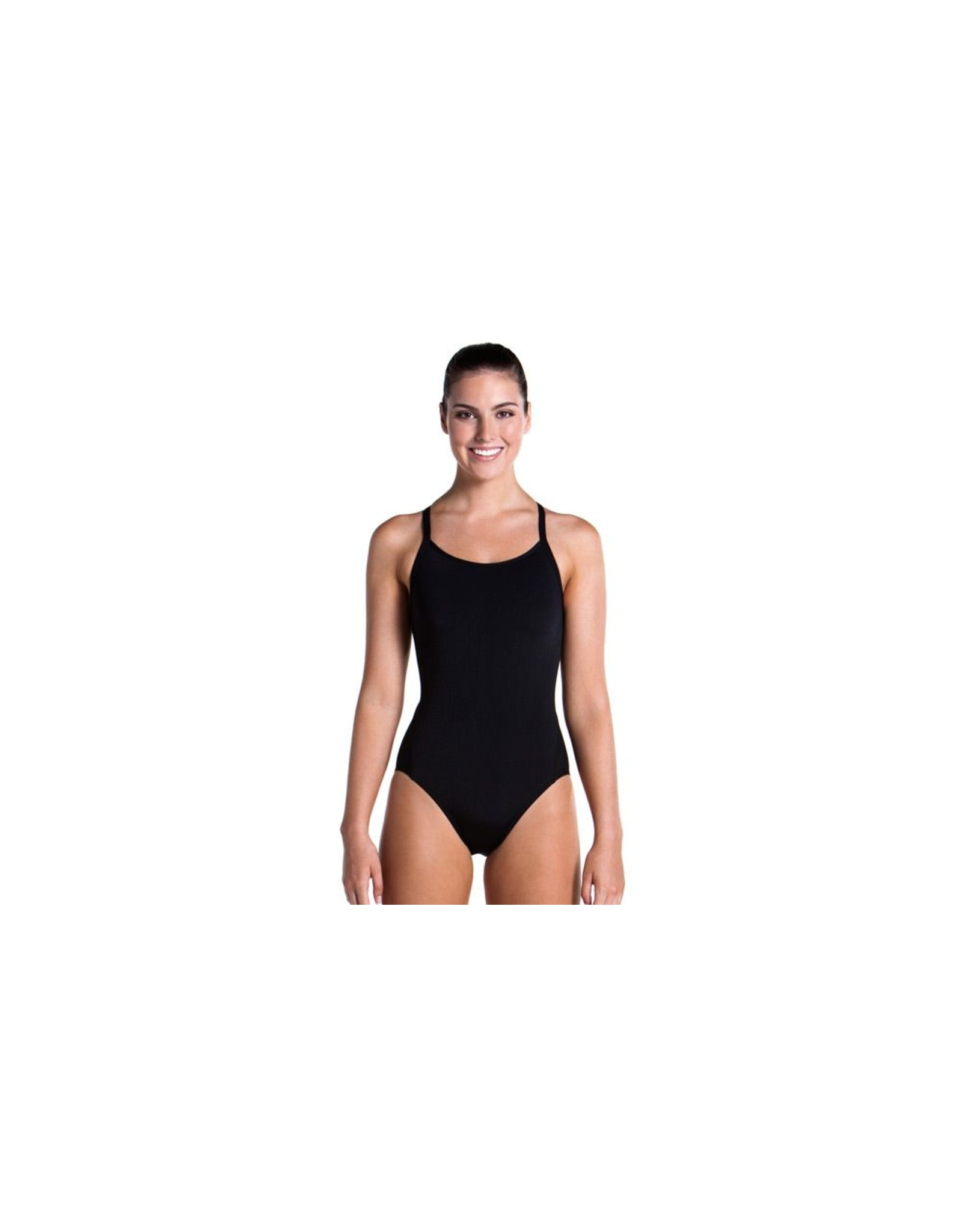 Funkita Funkita Ladies Diamond Back One Piece Still Black Solid