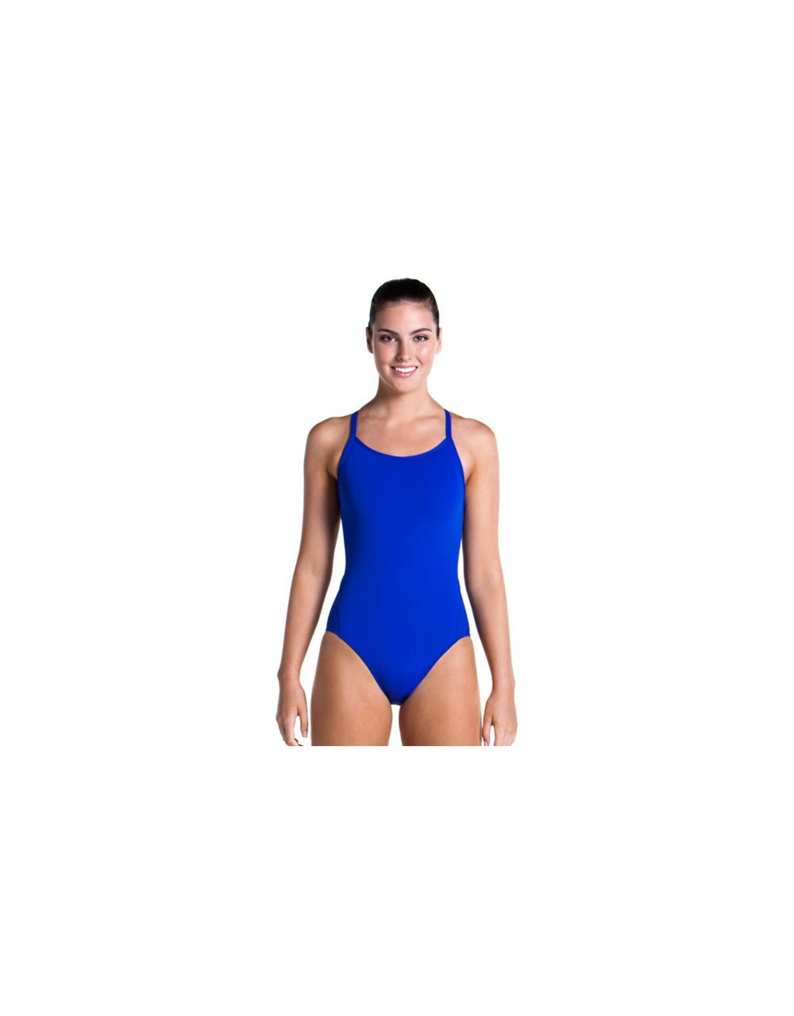 Funkita Funkita Ladies Diamond Back One Piece Still Speed Solid