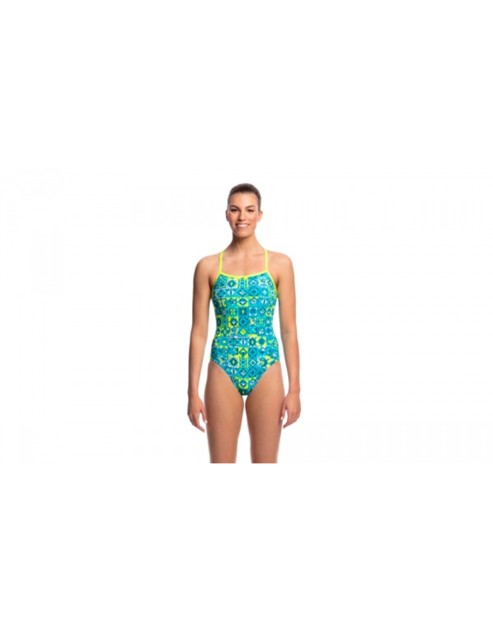 Funkita Funkita Ladies Single Strap One Piece Lime Light
