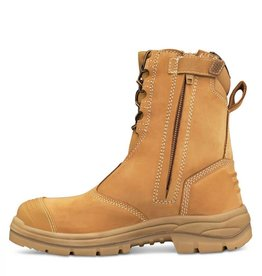 Oliver Oliver 55-385 200mm Hi-Leg Wheat Zip Sided Safety Boots