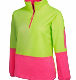 JB's JB's Ladies Hi Vis 1/2 Zip Polar Fleecy