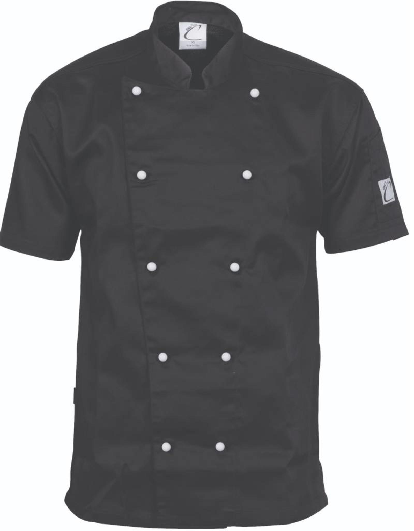 DNC Workwear DNC 1101 Traditional Short Sleeve Chefs Jacket